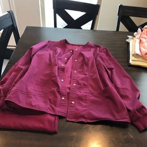 Scrubs size med and large wine colored